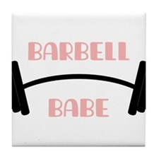 Barbell Babe Tile Coaster