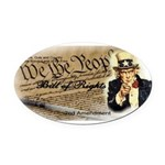 bill of rights 2nd admend1 lp Oval Car Magnet
