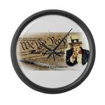 bill of rights 2nd admend1 lp Large Wall Clock