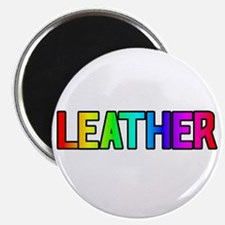 LEATHER RAINBOW TEXT Magnet