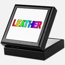 LEATHER RAINBOW TEXT Keepsake Box