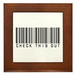 Check This Out (Barcode) Framed Tile