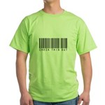 Check This Out (Barcode) Green T-Shirt