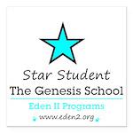 Genesis School Star Student Square Car Magne