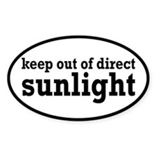 Keep Out Of Direct Sunlight Geek Decal