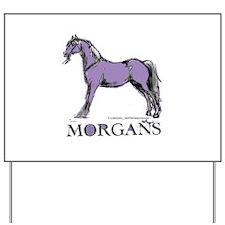 Morgan Horse Yard Sign