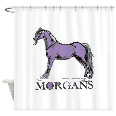 morgan horse shower curtain by cowgirlimpressionism