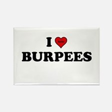 I Heart (hate) BURPEES Rectangle Magnet