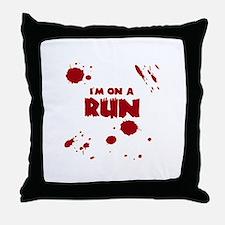 I'm on a run Throw Pillow