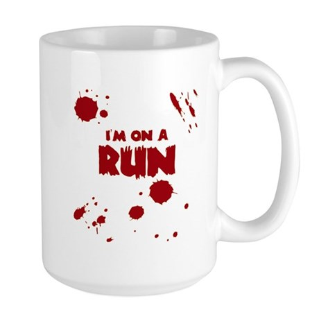 I'm on a run Large Mug