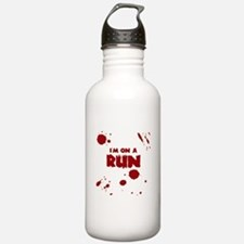 I'm on a run Water Bottle