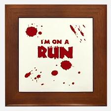 I'm on a run Framed Tile