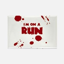 I'm on a run Rectangle Magnet