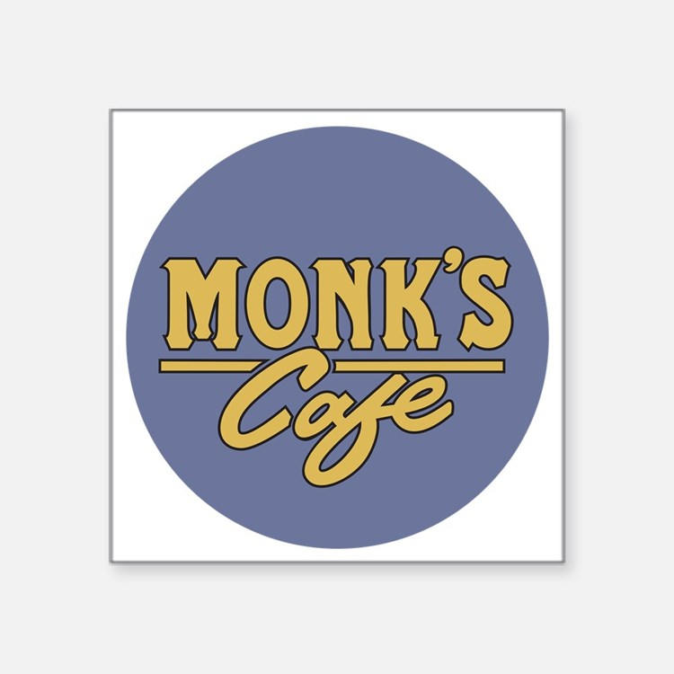 "Cute Monks Square Sticker 3"" x 3"""