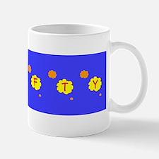 Blue Crafty Floral Silhouette 47 Designer Mug
