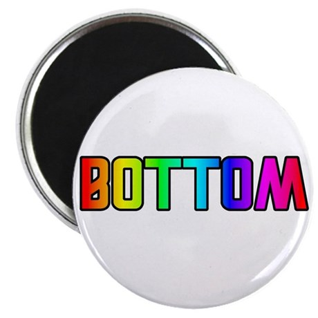 BOTTOM RAINBOW TEXT Magnet
