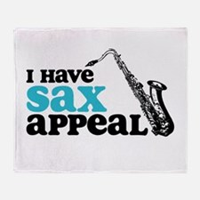 Sax Appeal Throw Blanket