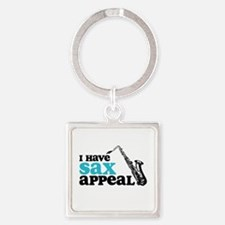 Sax Appeal Square Keychain