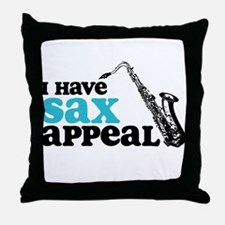 Sax Appeal Throw Pillow