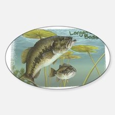 Largemouth Bass, Fish Rectangle Decal