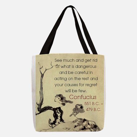 See Much And Get Rid Of - Confucius Polyester Tote