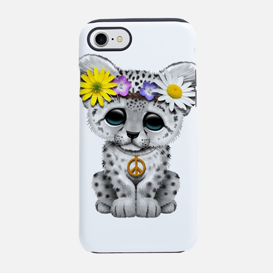 Cute Hippie Snow leopard Cub iPhone 7 Tough Case