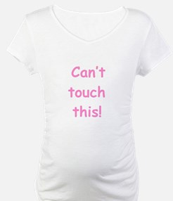 Don't Touch My Belly - Pink Shirt