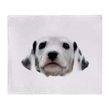 Dalmatian Puppy Face Throw Blanket