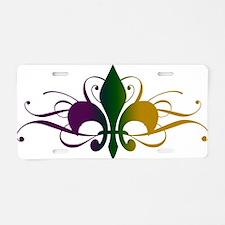 Cool Fleur de lis Aluminum License Plate