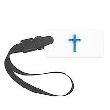 Pretty blue christian cross 4 U P Luggage Tag