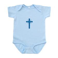 Pretty blue christian cross 4 U P Body Suit