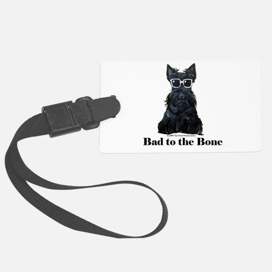 Scottie Bad to the Bone Luggage Tag