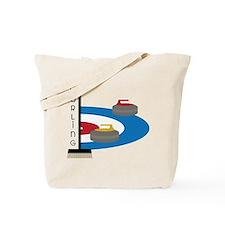 Curling Field Tote Bag