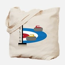 Curling Field Tote Bag
