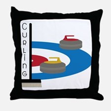 Curling Field Throw Pillow