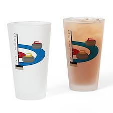 Curling Field Drinking Glass
