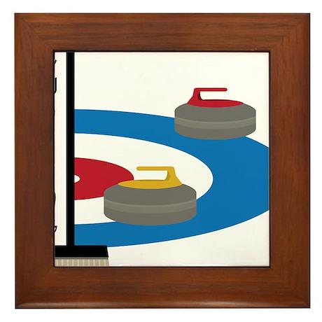 Curling Field Framed Tile