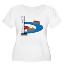 Curling Field Plus Size T-Shirt