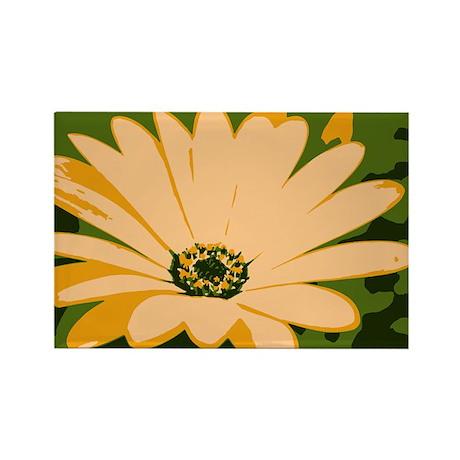 Yellow Daisy Rectangle Magnet