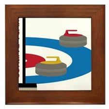 Curling Team Framed Tile