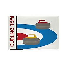 Curling Team Rectangle Magnet