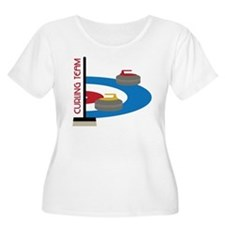 Curling Team Plus Size T-Shirt
