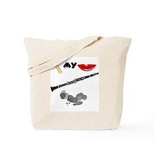 Reed My Lips Clarinet Rocks Tote Bag
