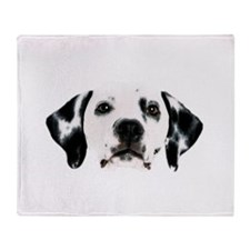 Dalmatian Face Throw Blanket