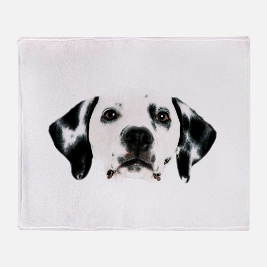 Dalmatian Face Throw Blanket