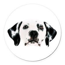 Dalmatian Face Round Car Magnet