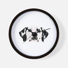 Dalmatian Face Wall Clock