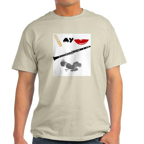 Reed My Lips Clarinet Rocks Ash Grey T-Shirt