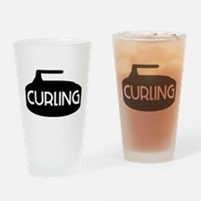 Curling Stone Drinking Glass