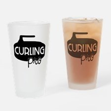 Curling Pro Drinking Glass